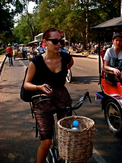 Daypack whilst cycling Angkor Wat