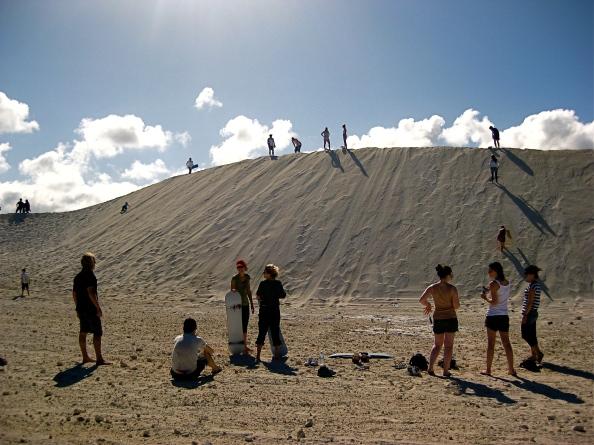 Sandboarding in Lancelin
