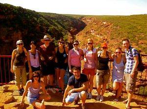 The tour group at Kalbarri NP