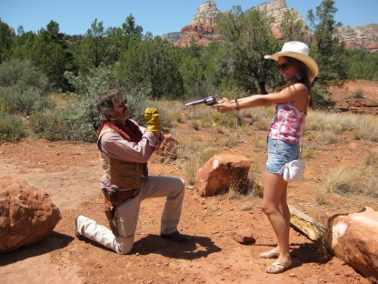 Playing Cowboy in Sedona
