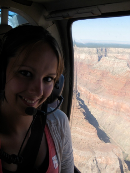 Helicopter ride over the Grand Canyon