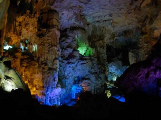 Awesome caves at Halong Bay