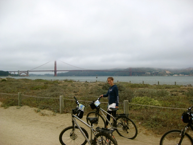 Cycling to the Golden Gate Bridge