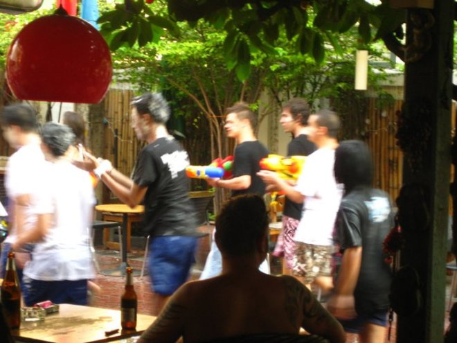 Songkran - Staying dry in Sawasdee House