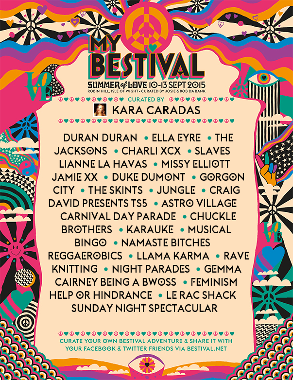 My Bestival Line Up 2015